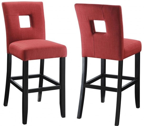Andenne Red Counter Height Chair Set of 2