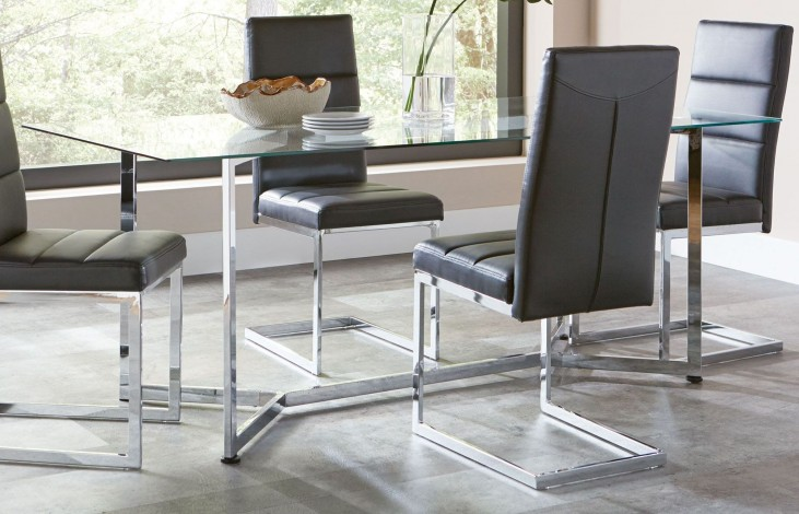 Augustin Chrome Table