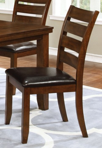 Maxwell Dark Brown and Golden Brown Side Chair Set of 2
