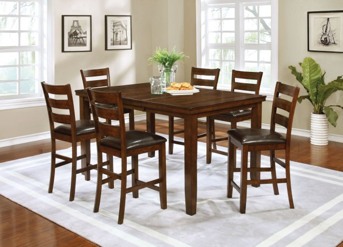 Maxwell Golden Brown Counter Height Dining Room Set