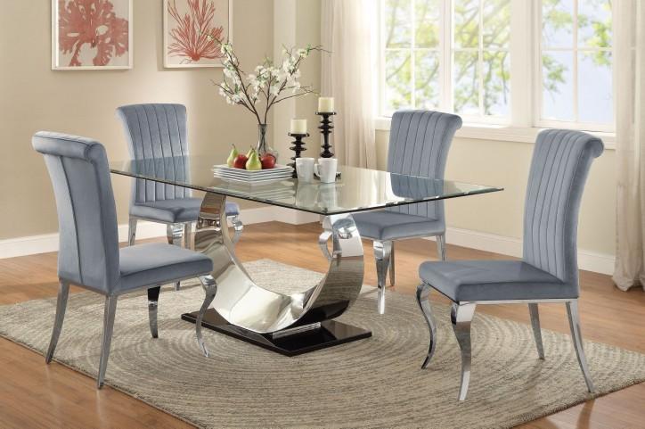 Manessier Chrome Dining Room Set