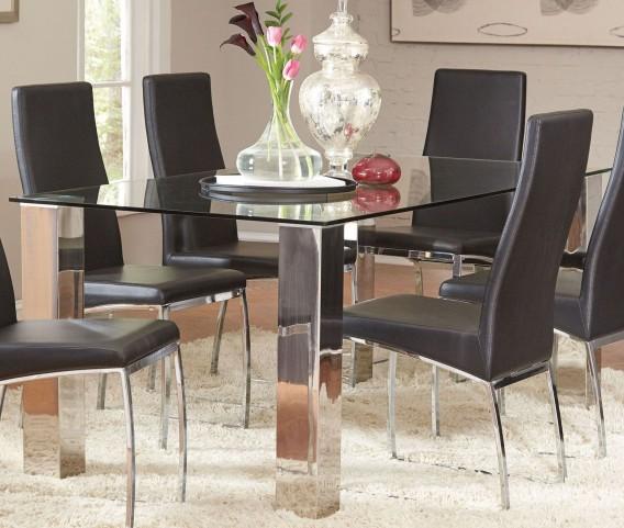 Bellini Chrome Dining Table
