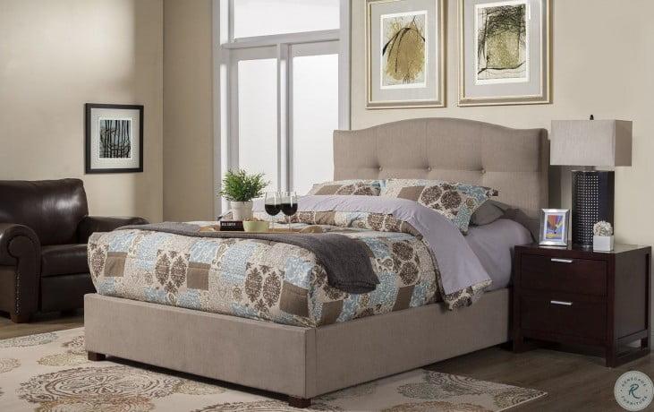 Amanda Jute Tufted Queen Upholstered Platform Bed