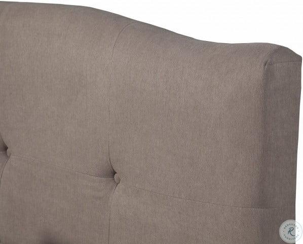 Amanda Jute Tufted King Upholstered Platform Bed