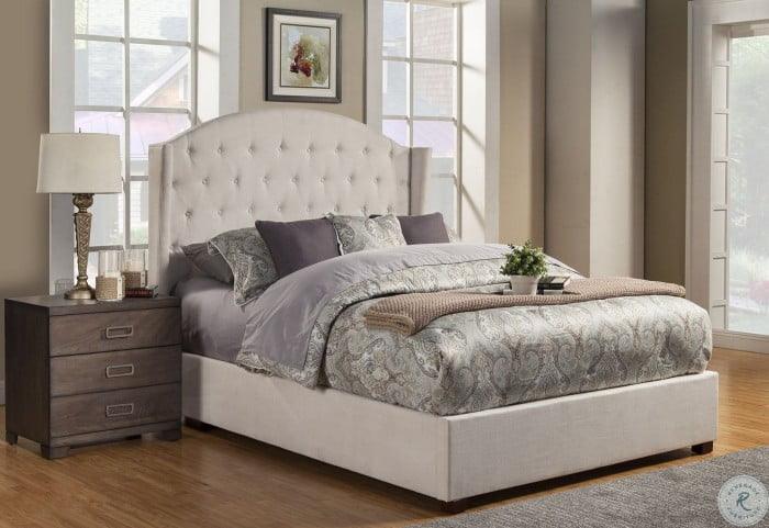 Ava Soap Tufted Queen Upholstered Platform Bed