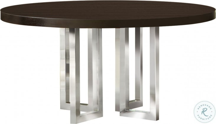 Fueyes Graphite and Chrome Dining Table