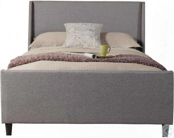 Amber Linen Upholstered Full Upholstered Panel Bed