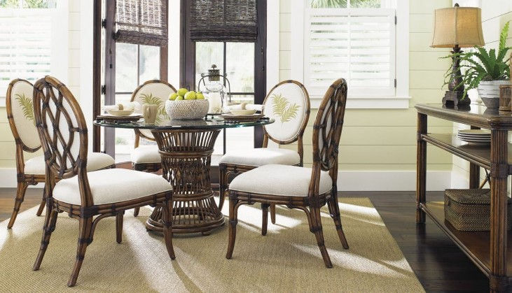 Bali Hai Fisher Island Double Pedestal Extendable Dining Room Set