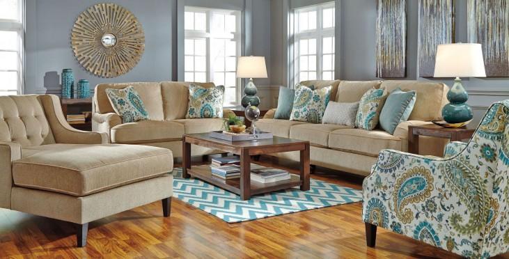 Lochian Bisque Living Room Set