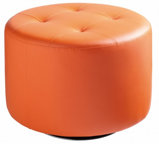 Domani Orange Large Swivel Ottoman