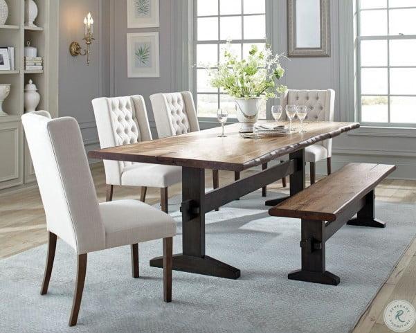Bexley Natural Honey and Espresso Dining Room Set