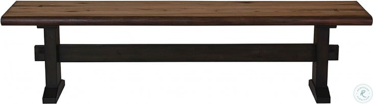 Bexley Natural Honey and Espresso Dining Bench
