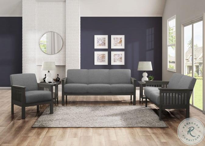 Lewiston Gray Living Room Set