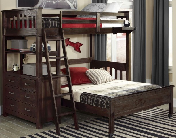 Highlands Espresso Twin Loft Bed With Full Lower Bed From Ne Kids