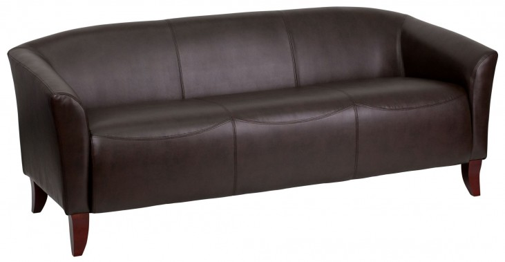 Hercules Imperial Series Brown Leather Sofa