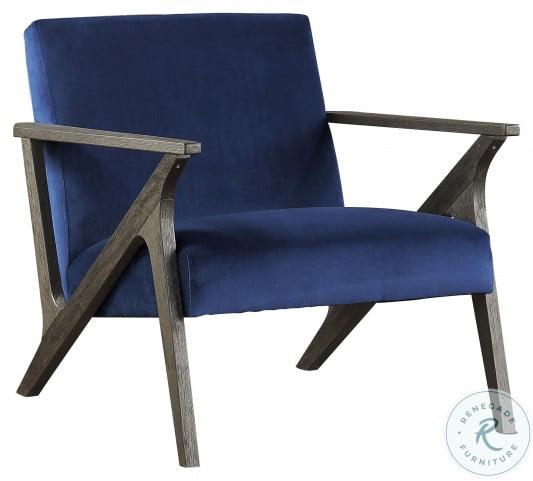 Coriana Navy Velvet Accent Chair