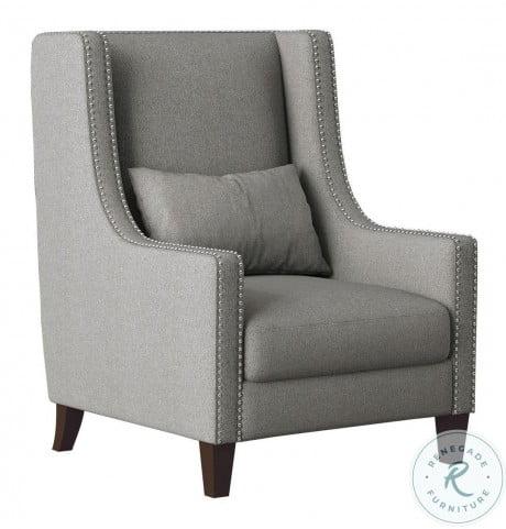 Keller Light Gray Accent Chair