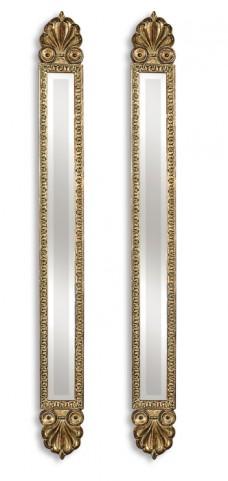Juniper Antique Gold Mirrors Set of 2