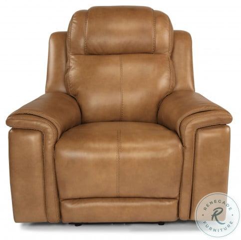 Kingsley Beige Power Reclining Living Room Set With Power Headrest