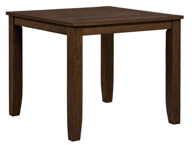 Vintage Sienna Brown Rectangular Counter Height Table