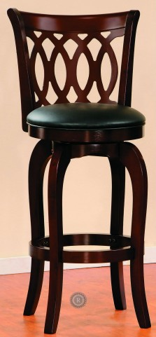 Shapel Cherry Finish Swivel Counter Height Chair Set of 2