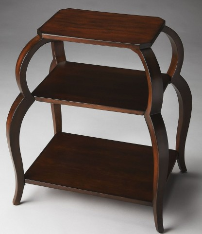 Shelby Plantation Cherry Tiered Side Table