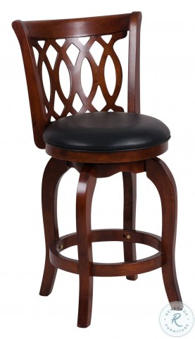 Shapel Dark Cherry Swivel Counter Height Chair Set of 2