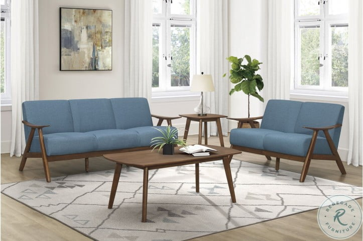 Damala Blue Living Room Set