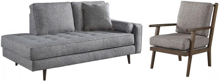 Zardoni Charcoal Living Room Set From Ashley Furniture