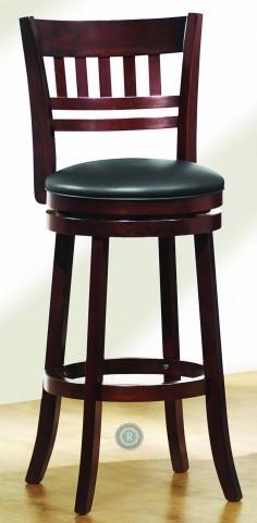 Edmond Swivel Cherry Counter Height Chair Set of 2
