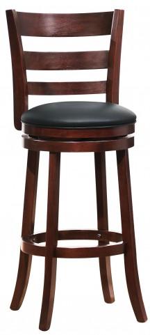 Edmond Swivel Dark Cherry Pub Chair Set of 2