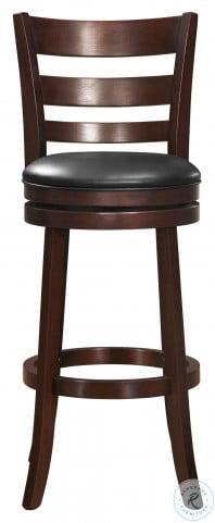 Edmond Dark Cherry Swivel Pub Chair Set of 2