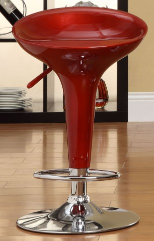 1145RED Ride Airlift Red Swivel Stool