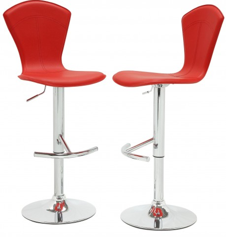 1148RED Ride Airlift Red Swivel Stool