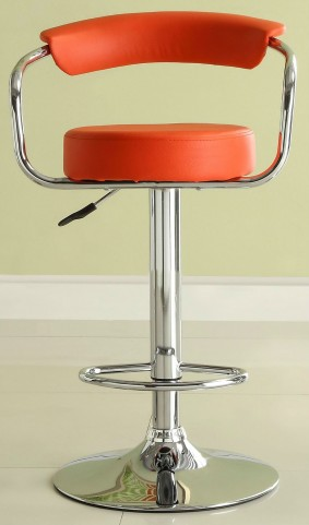 1149RED Ride Airlift Red Swivel Stool