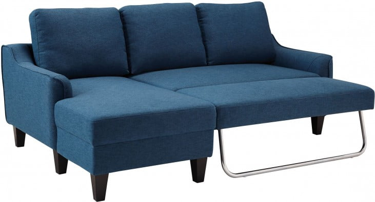 Jarreau Blue Queen Sofa Chaise Sleeper