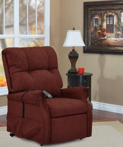Dawson Maroon Two Way Reclining Lift Chair