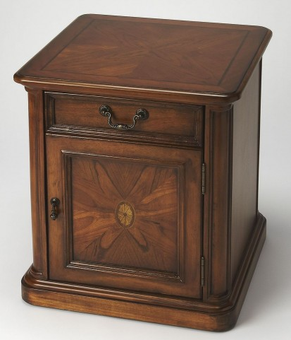 Masterpiece Thayer Olive Ash Burl Accent Table