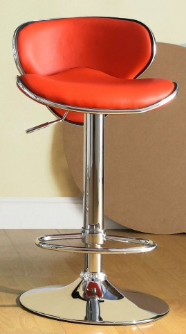 1156RED Ride Airlift Red Swivel Stool