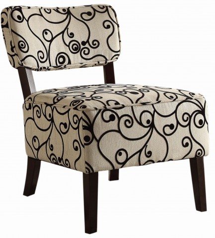 Orson Black and White Accent Chair