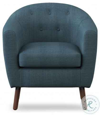 Lucille Blue Accent Chair
