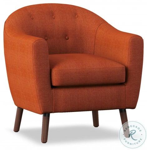 Lucille Orange Accent Chair