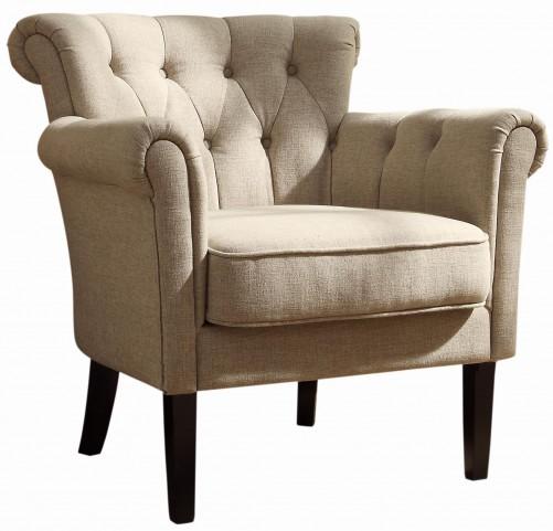 Barlowe Dark Cherry Oatmeal Accent Chair