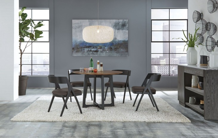 Mix And Match Brown Round Wood Dining Room Set From Casana