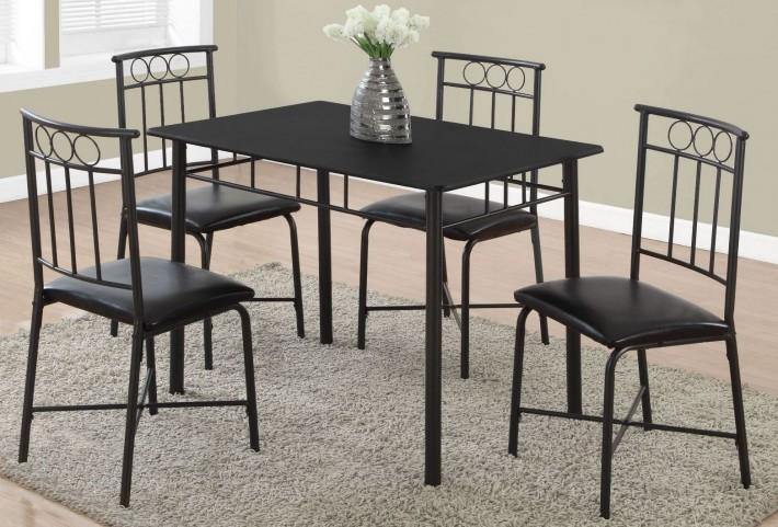 Black Metal 5 Piece Dining Room Set