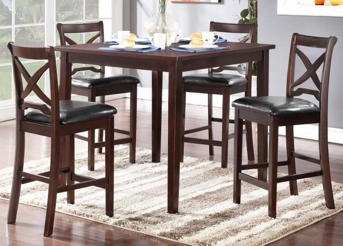 Milo Espresso 5 Piece Counter Table Set