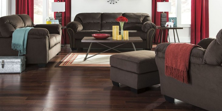 Kinlock Chocolate Living Room Set