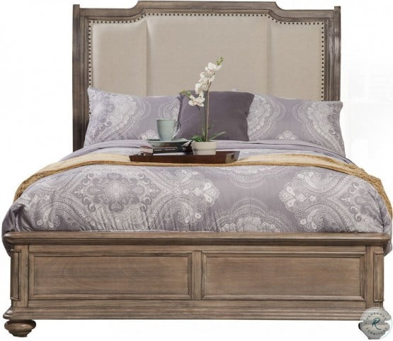 Melbourne Truffle Upholstered Queen Sleigh Bed
