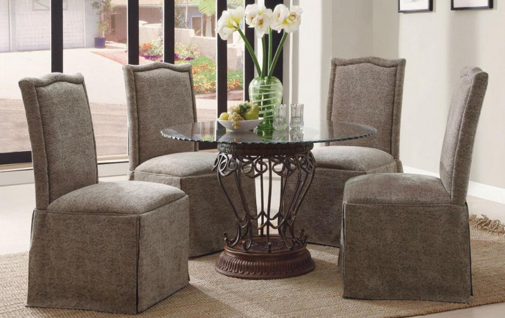 Slauson Terracotta Round Dining Room Set