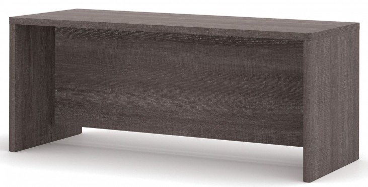 Pro-Linea Bark Grey Executive Desk